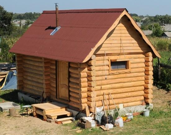 Изготовить крышу на баню